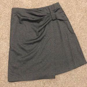 Ann Taylor new Houndstooth wrap skirt